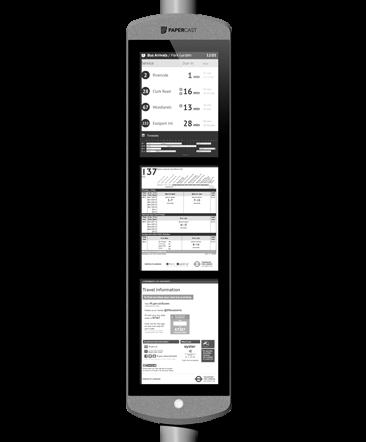 Papercast - E-Paper-Display - Digital Signage Lösungen Christiansen GmbH - 13 Zoll dreifach
