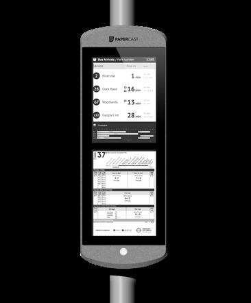 Papercast - E-Paper-Display - Digital Signage Lösungen Christiansen GmbH - 13 Zoll doppelt