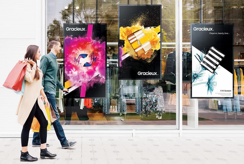 Samsung Profi Displays Schaufenster